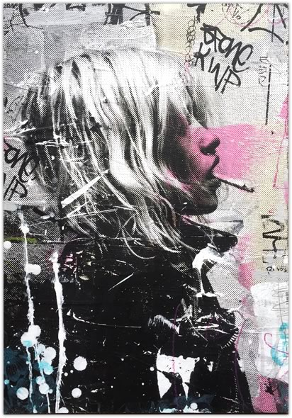 Steve Smythe「UNTITLED KATE MOSS on Wood 1/1」